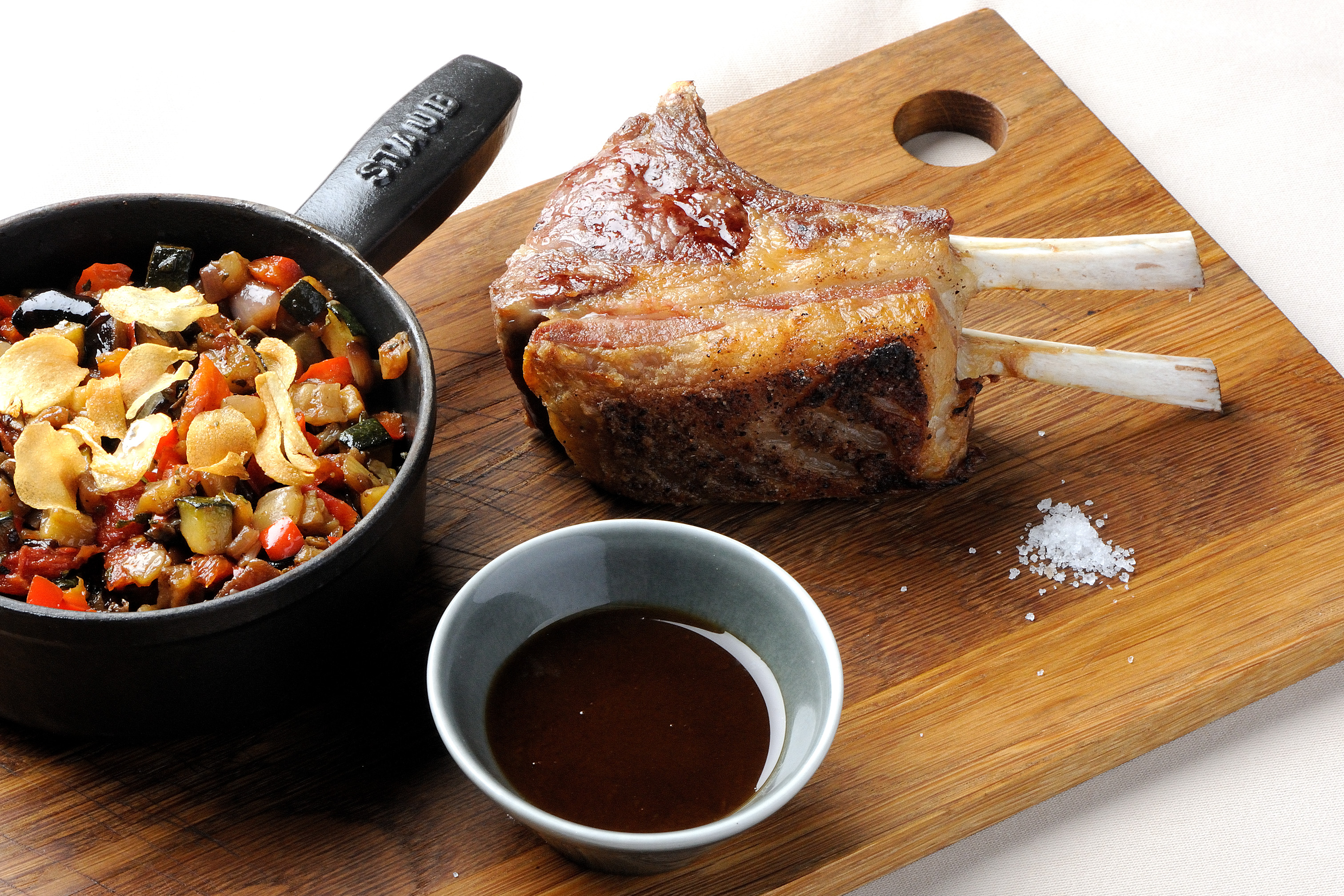grilled rack of lamb recipe with ratatouille great british chefs