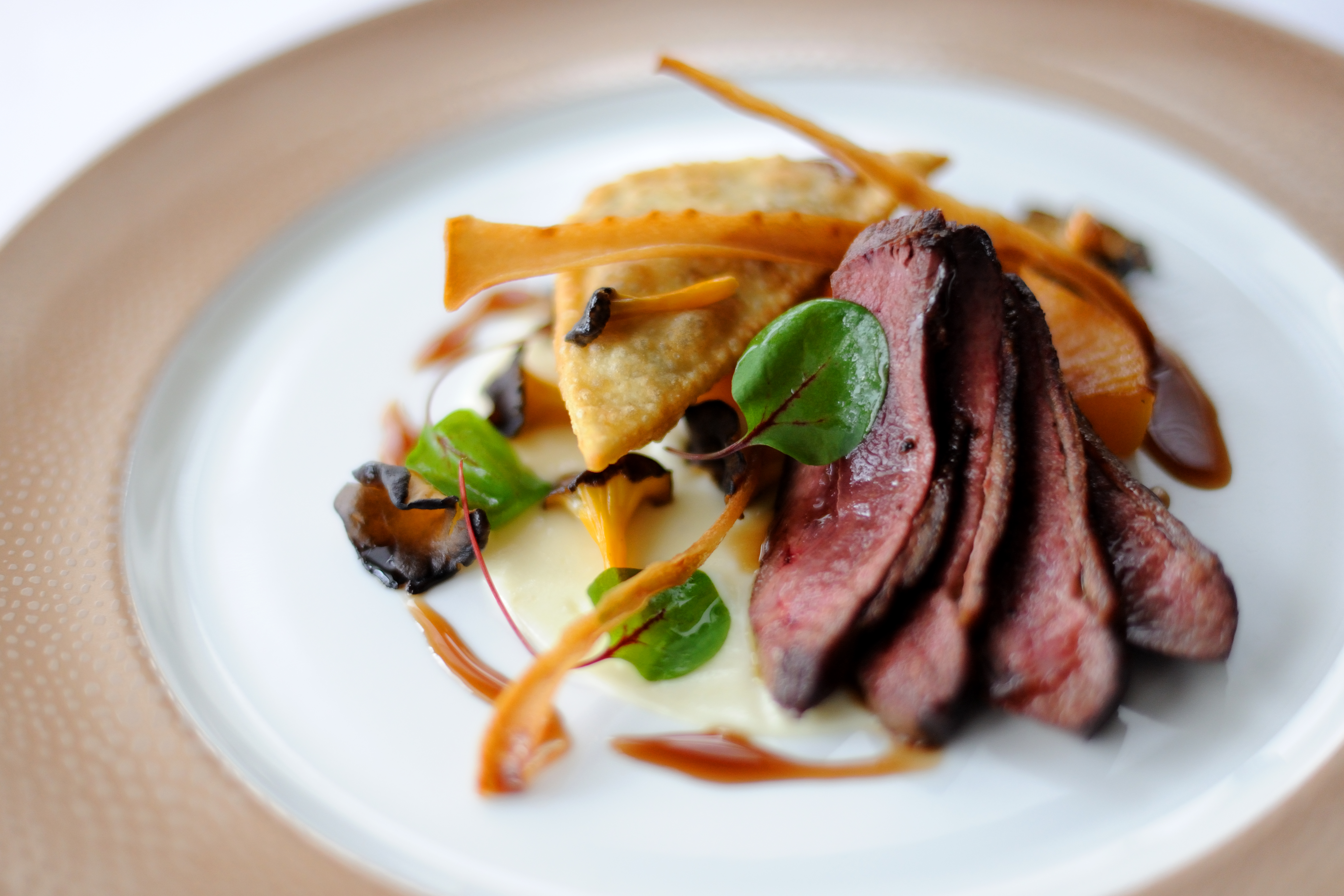 Duck Breast Recipe With Duck Leg Swede Samosa Great British Chefs