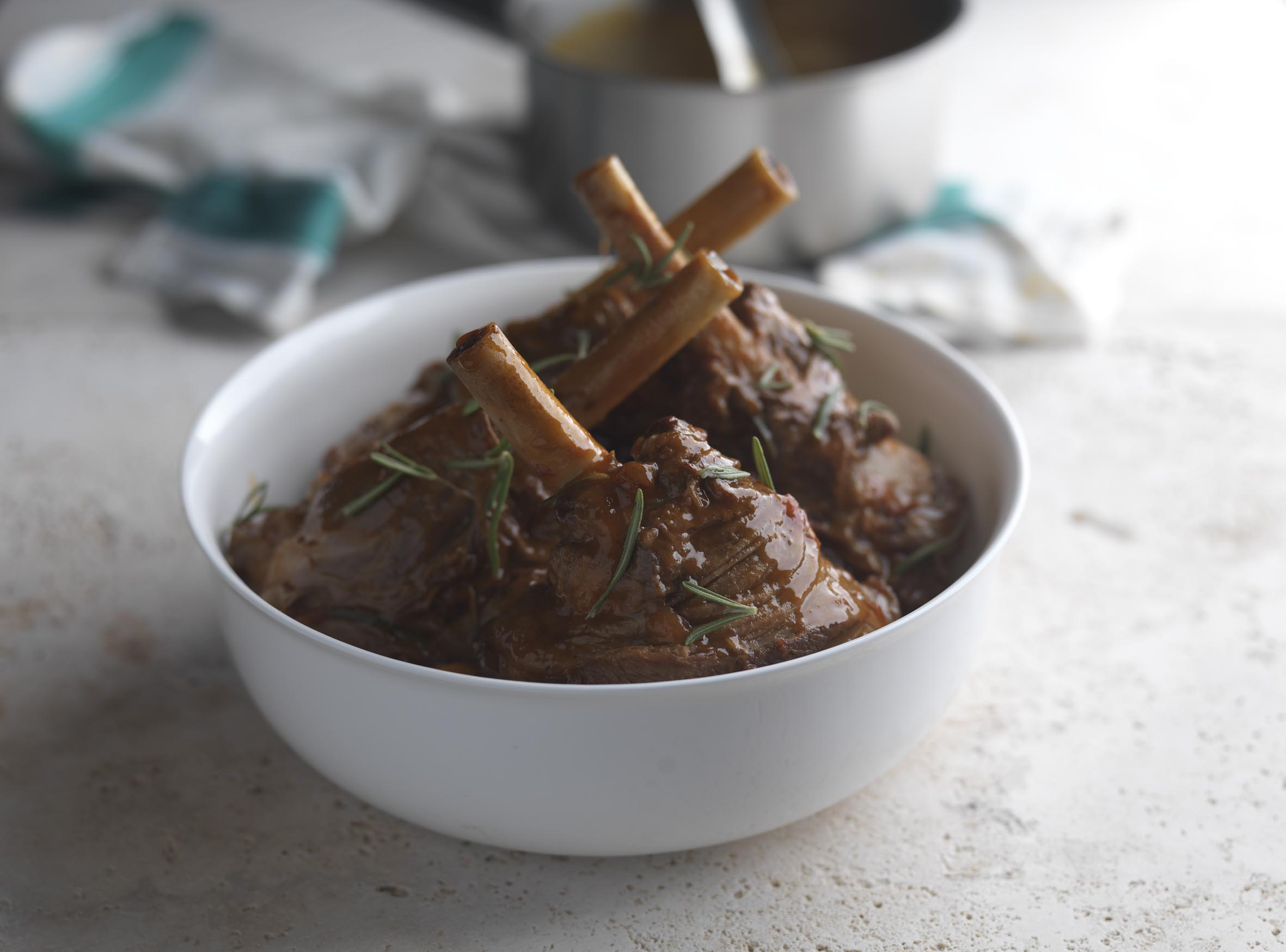 Lamb shanks recipe tomato rosemary great british chefs forumfinder Choice Image