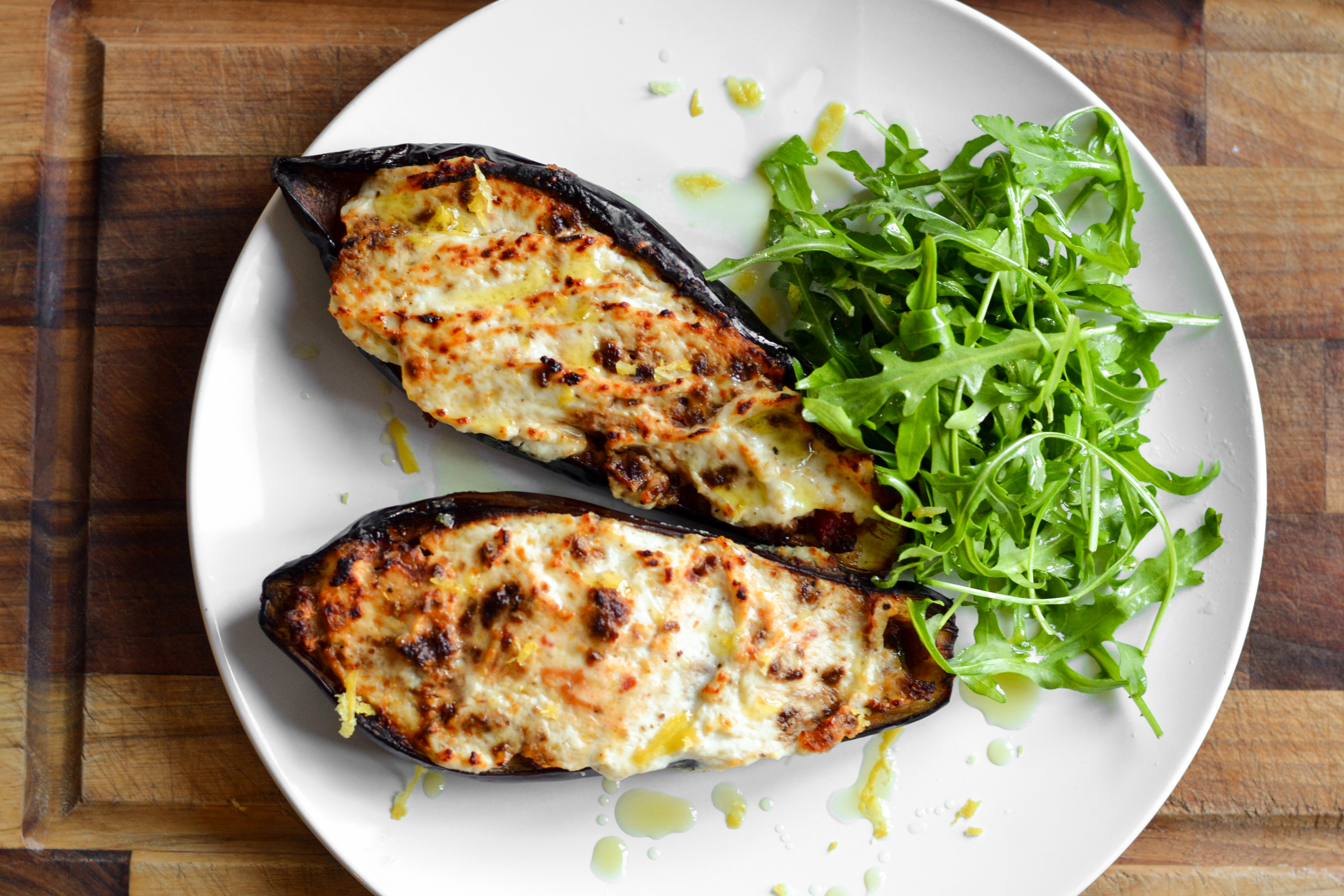 How to cook aubergine with vegetables
