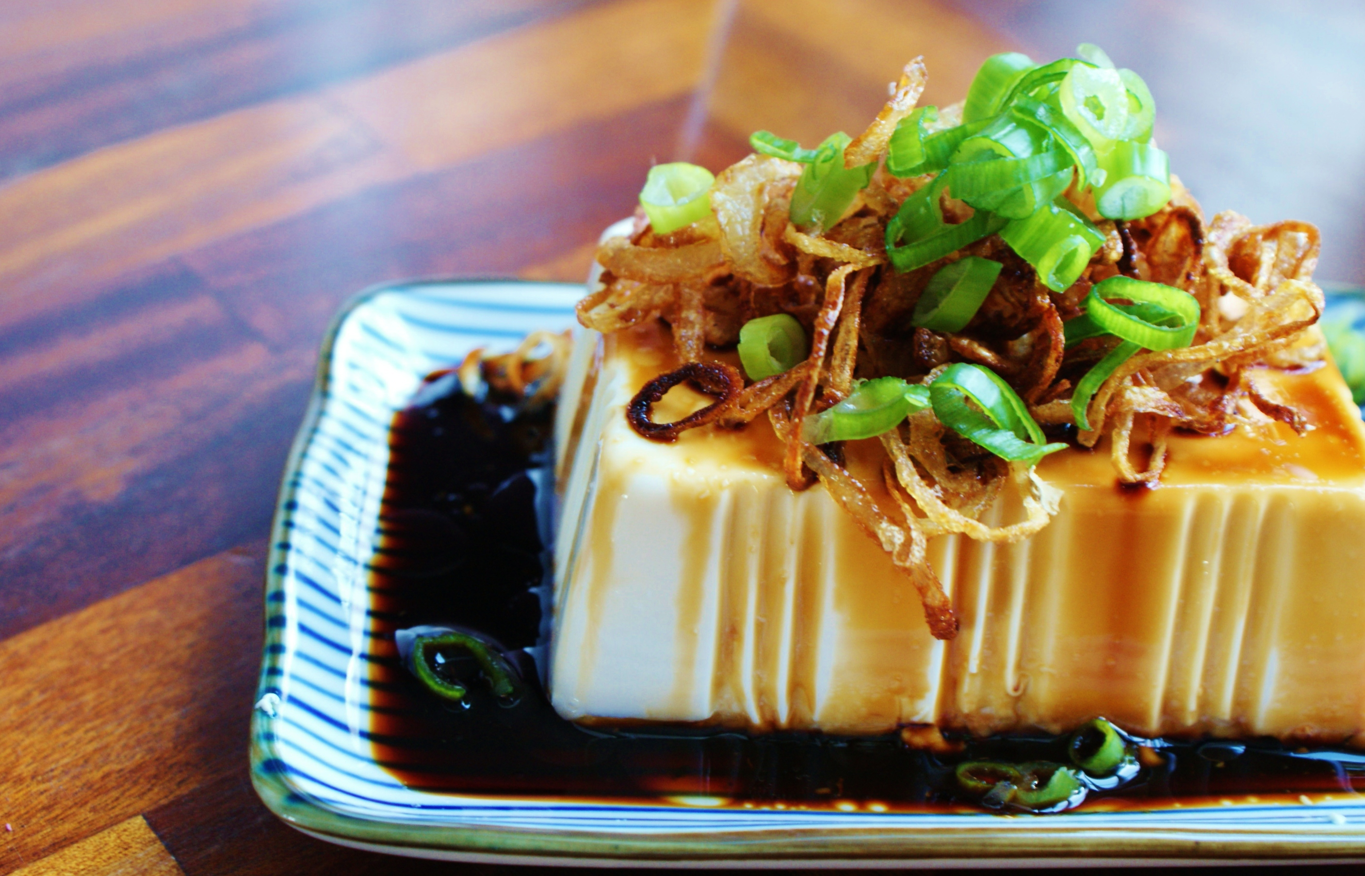 Silken tofu with crispy shallots recipe great british chefs forumfinder Images